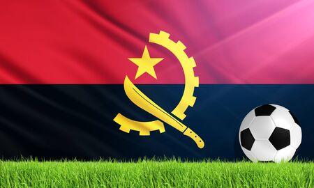 angola: The National Flag of Angola Stock Photo