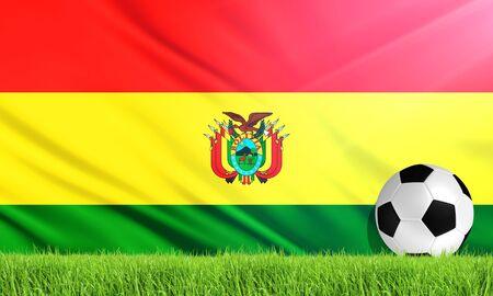 bolivia: The National Flag of Bolivia Stock Photo