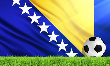 bosnia and herzegovina: The National Flag of Bosnia and Herzegovina
