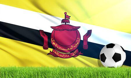 brunei darussalam: The National Flag of Brunei Darussalam