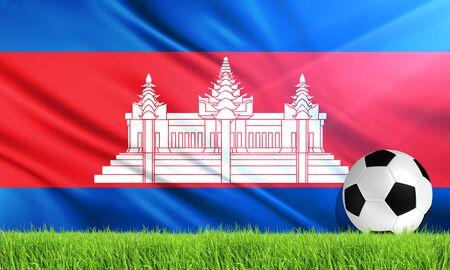 cambodia: The National Flag of Cambodia Stock Photo
