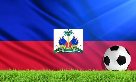 haiti: The National Flag of Haiti Stock Photo