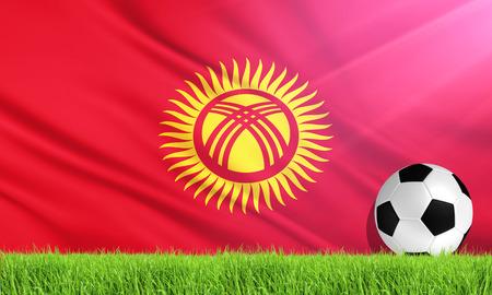 kyrgyzstan: The National Flag of Kyrgyzstan Stock Photo