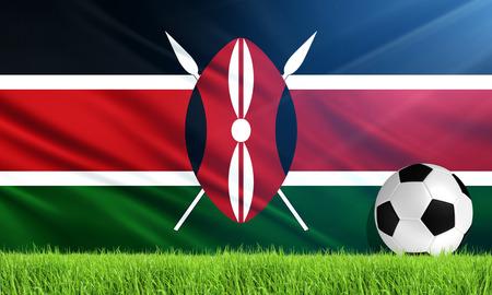kenya: The National Flag of kenya Stock Photo