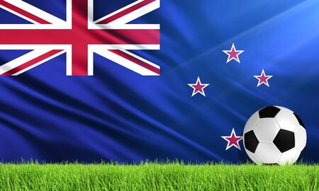 bandera de nueva zelanda: La Bandera Nacional de Nueva Zelanda Foto de archivo