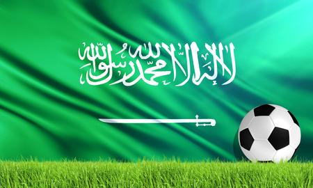 サウジアラビアの国旗 写真素材