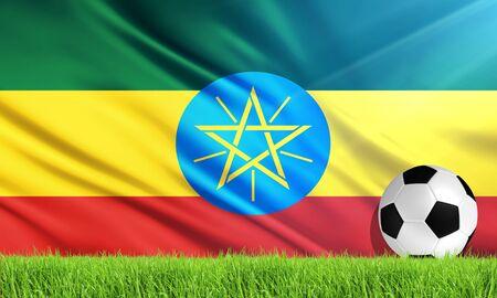 ethiopia abstract: The National Flag of Ethiopia