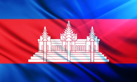 educaton: The National Flag of  Cambodia