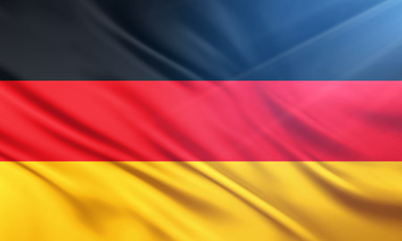 populace: The National Flag of Gremany Stock Photo