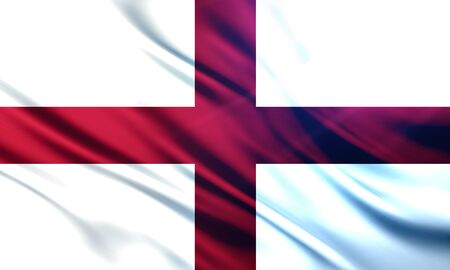 populace: The National Flag of England UK Stock Photo