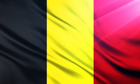 populace: The National Flag of Belgium Stock Photo
