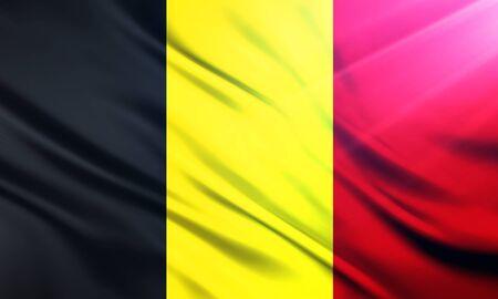 incarnation: The National Flag of Belgium Stock Photo