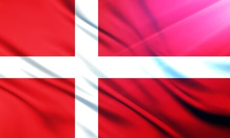 populace: The National Flag of Denmark