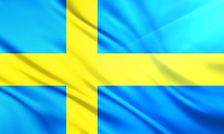 populace: The National Flag of Sweden Stock Photo