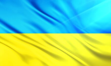populace: The National Flagof of  Ukraine