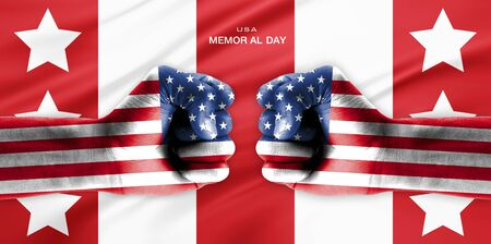 united state: Memorial Day of United state of America Stock Photo