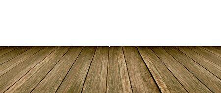 Houten vloer witte achtergrond Stockfoto