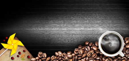 sackcloth: coffee background Stock Photo