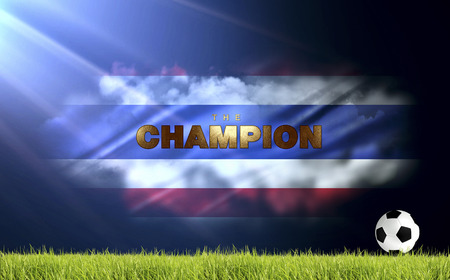 victor: soccer and football abstract illustrationThailand flag abstract background Stock Photo