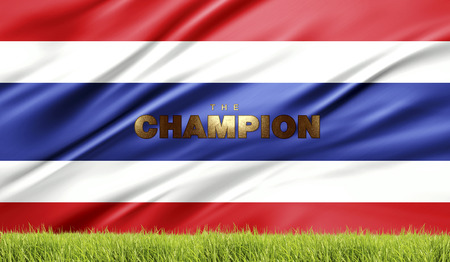 conqueror: soccer and football abstract illustrationThailand flag abstract background Stock Photo