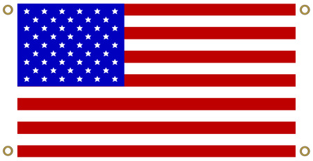 America USA flag background Eyelet punch the corner
