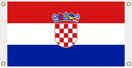 bandera de croacia: Croacia fondo de la bandera Ojal sacador de la esquina