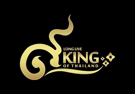 king thailand: long live the King of Thailand logo vector Illustration