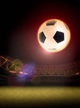 soccer background: soccer and football illustration background