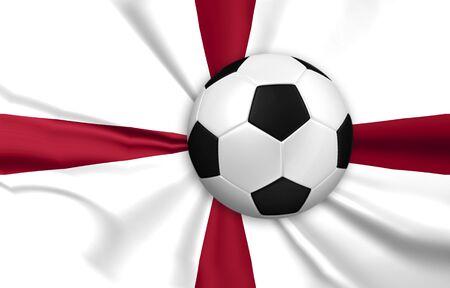bandera inglaterra: f�tbol y el f�tbol con Inglaterra fondo de la bandera Foto de archivo