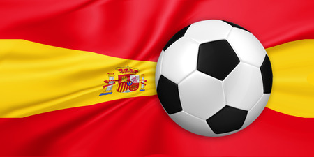 victor: soccer and football with Spain flag background