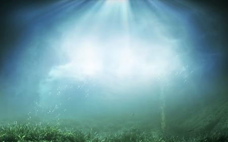 海を水中背景