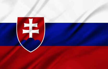 populace: The National Flag of Slovakia Stock Photo
