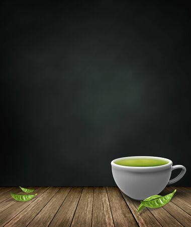 tea plantation: green tea Stock Photo