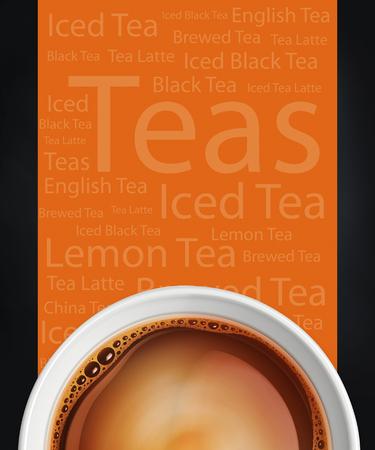 Boisson de café et de thé fond Banque d'images - 42141847