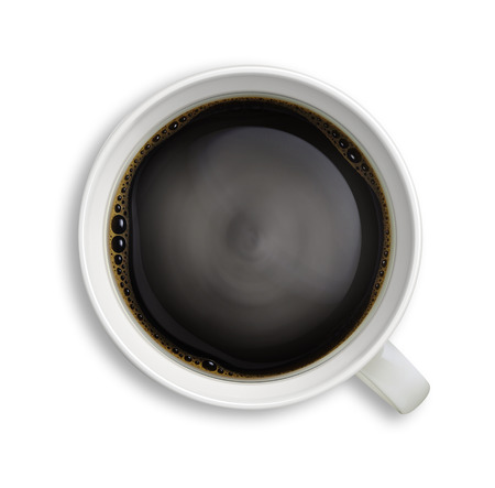 black coffee close-up isolated image Archivio Fotografico