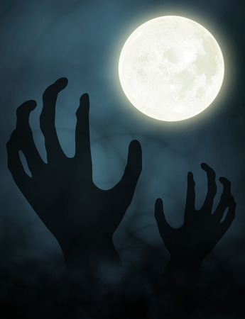 halloween background: hand zombie halloween background