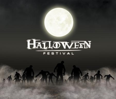 halloween festival illustratie en achtergrond