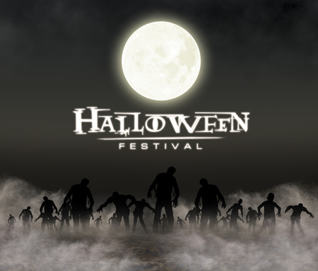 halloween festival illustration and background Фото со стока - 42731242