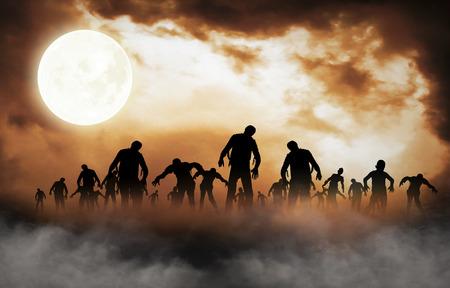 ハロウィーン祭りのイラストと背景