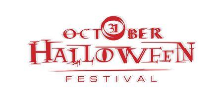 logo vector: halloween festival illustration and halloween logo vector