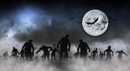 Halloween-festivalillustratie en achtergrond Stockfoto