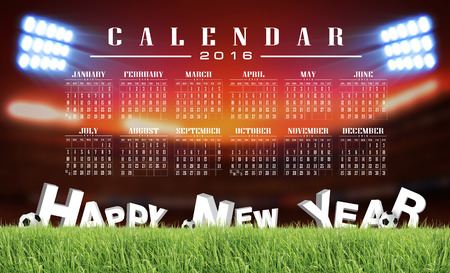 sward: calendar 2016 and happy new year