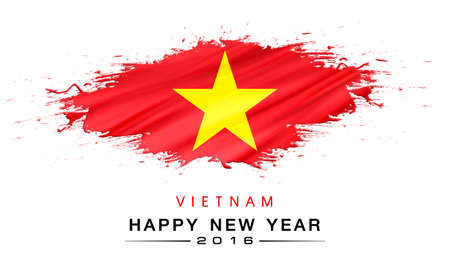 flag background: happy new year 2016 with national flag background Stock Photo
