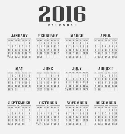 calendar 2016 Фото со стока - 42731801