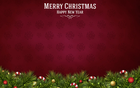 merry christmas festival illustration background Фото со стока - 43083749