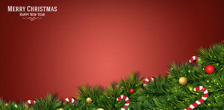 merry christmas festival illustration background Фото со стока - 43084032