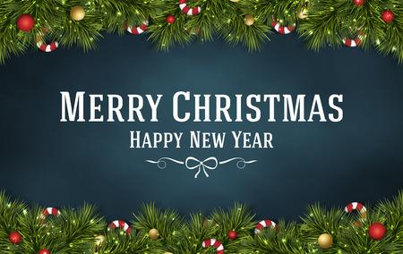 merry christmas festival illustration background Фото со стока - 43084083