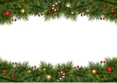 vrolijke kerst festival illustratie achtergrond