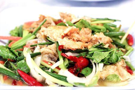 Spicy  egg salad yam khai dao