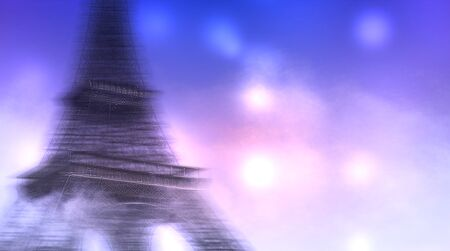 motion blur: illustration of merry christmas with motion blur bokeh background